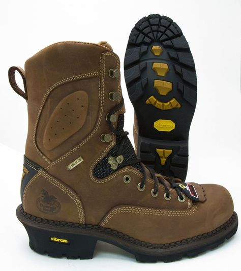 AdTec Mens Brown 9in Logger Crazy Horse Leather 11 W