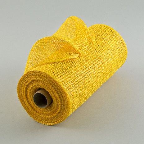10 Poly Burlap Mesh Yellow Rp810029 Burlap Burlap Wreath Diy Paper Mesh