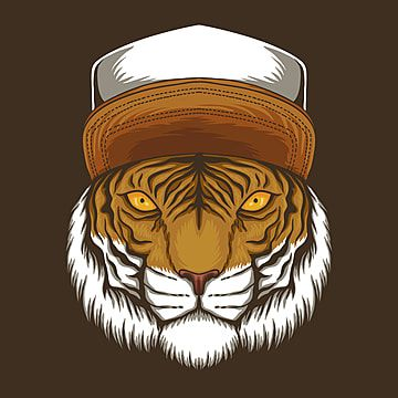 Tiger Hat Vector Illustration Accessory Animal Art Png And Vector With Transparent Background For Free Download In 2021 Art Background Animal Art Hat Vector