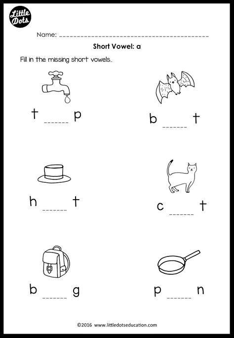 Short Vowels Middle Sounds Worksheets And Activities Short Vowel Worksheets Vowel Worksheets Middle Sounds Worksheet