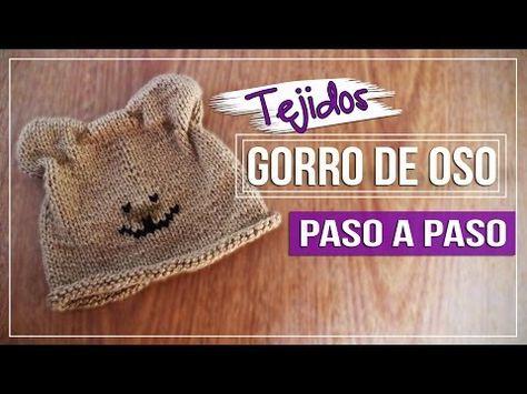 más cerca de como encontrar bastante agradable Gorro Oso - Tejido en Dos agujas Paso a Paso - YouTube ...