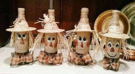 24+ Unique DIY Scarecrow Bottles Ideas Pouring Your Creative Arts #diyhomedecor #diydecorations #diycrafts