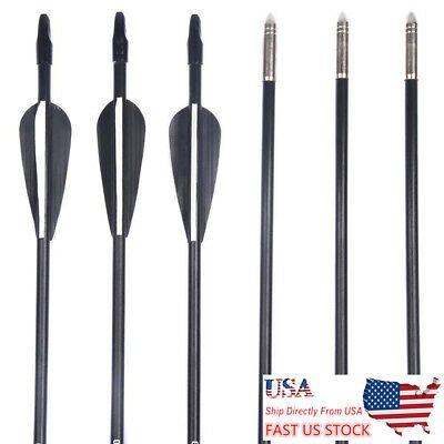 "28/"" 12pcs Fiberglass Arrows Recurve Long Bow Target 7mm Archery Arrow Target"