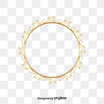 The Circle Frame Golden Flower Patterns Golden Circle Frame The S Patterns Png And Vector With Transparent Background For Free Download Circle Frames Circle Clipart Floral Border Design