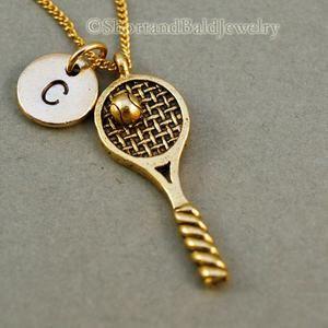 Tennis Racket Charm Tennis Racket Necklace Custom Charm Pendant Initial Necklace Tennis Chain Tennis Racquet Tennis Racket Pendant