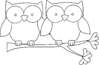 Owls on branch