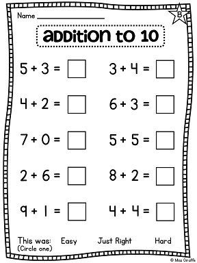 First Grade Math Unit 3 Addition To 10 Fun Games Worksheets Activities First Grade Math Addition Worksheets Kids Math Worksheets