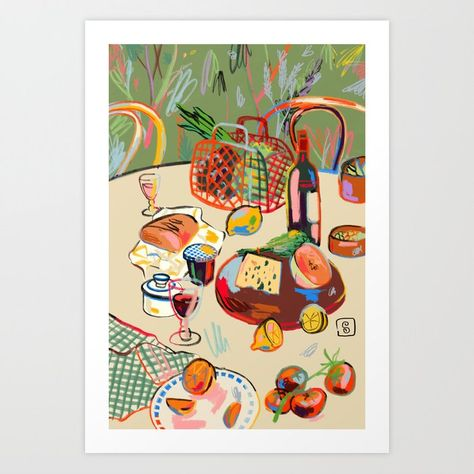 WINE BREAK Art Print