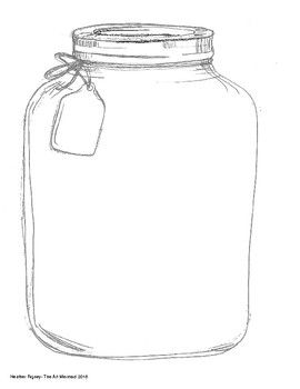 Empty Jar With A Tag Collections Of Objects Jar Elementary Art