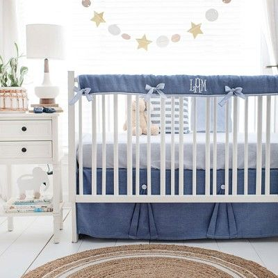 Washed Linen In Cape Cod Collection In 2020 Linen Crib Bedding