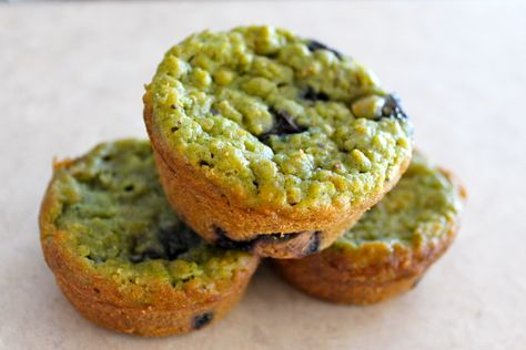 Veggie Monster Muffins from Hellobee. Swap a couple ingredients & these will be great for Mak.