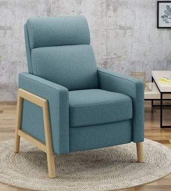 Recliners For Small Spaces Bedroom Chairs For Adults Blue Fabric Birch Wood Leg Push Back Offer Extra Comfor Small Space Bedroom Small Spaces Bedroom Chair