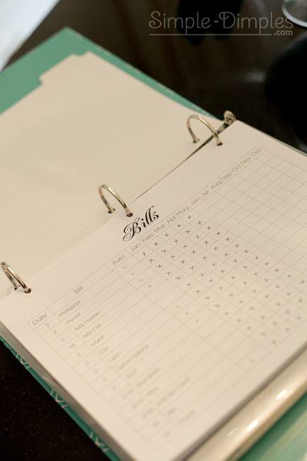 Organization Binders: FREE PDF templates for your binder