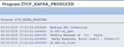 Producing a Message to Kafka via a TCP ABAP Push Channel