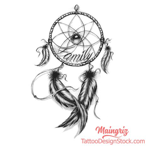 "Dream Catcher Drawing for Woman Tattoo   ""Amazing Tattoo starts with a quality drawing first ... "" All our tattoo designs are authentic and made by professional tattoo artists and designers. Many tattooshops and customers around the world are drawing inspiration from our designs to create their tattoo project.  This tattoo drawing is available in digital format for immediate download of high quality."