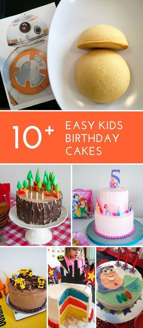 Cool 10 Easy Birthday Cakes For Kids Easy Kids Cakes For Beginner Funny Birthday Cards Online Sheoxdamsfinfo