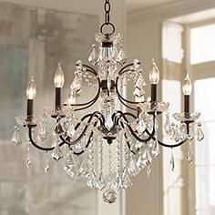 Paige crystal chandelier bronze finish chandeliers crystals and beverly 26 wide bronze frame clear crystal chandelier aloadofball Images
