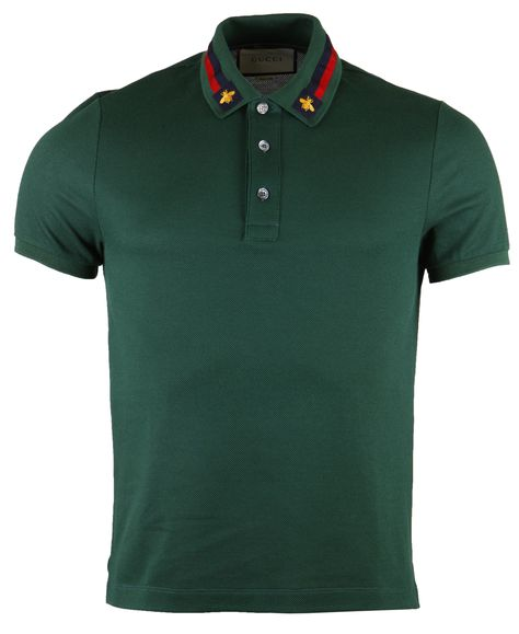 639a7d48dc4 Gucci Web Trim   Bee Collar Polo T-Shirt
