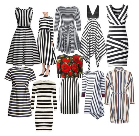 STRIPED DRESS by lillianihuomao on Polyvore featuring Valentino, Dolce&Gabbana, Alexander McQueen, Nicholas, STELLA McCARTNEY, Rumour London, Closet, Topshop and H&M