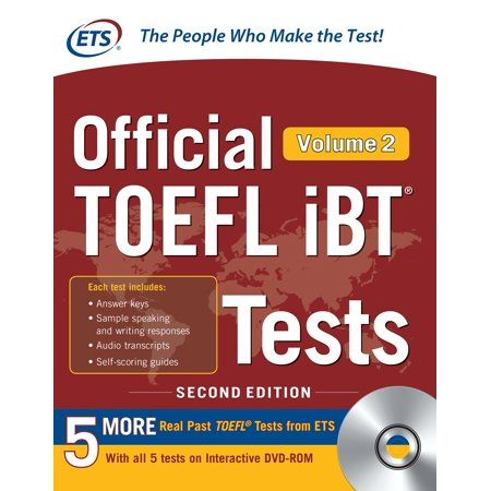 Official Toefl Ibt Tests Volume 2 Second Edition Other Walmart Com Toefl Ibt Toefl Educational Testing