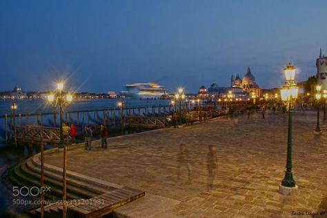 Ghosts Of Venice http://ift.tt/1Rv3c1X ArchitectureBlueBuildingsCanalChurchCityCruiseshipDarkGhostGondolaItalyLaternLightNightPeopleSkyVenice