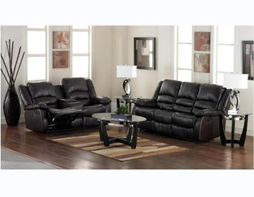 This Bonded Leather Living Room Collection From Amalfi Includes A Double Reclining Sofa And Loveseat With Center Console Coffee Table Two End Tab