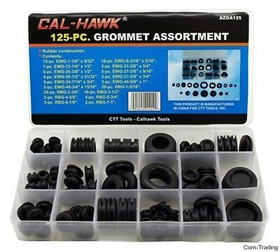 Ctt 125 Pc Assorted Rubber Grommets Auto Rv Firewall Holes Wire Grommet Azga125 In 2020 Rubber Grommets Grommets Ebay