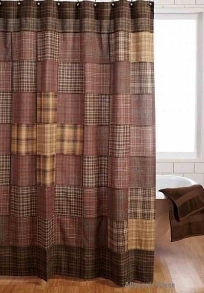 Prescott Shower Curtain Unlined 72x72 Primitive Curtains