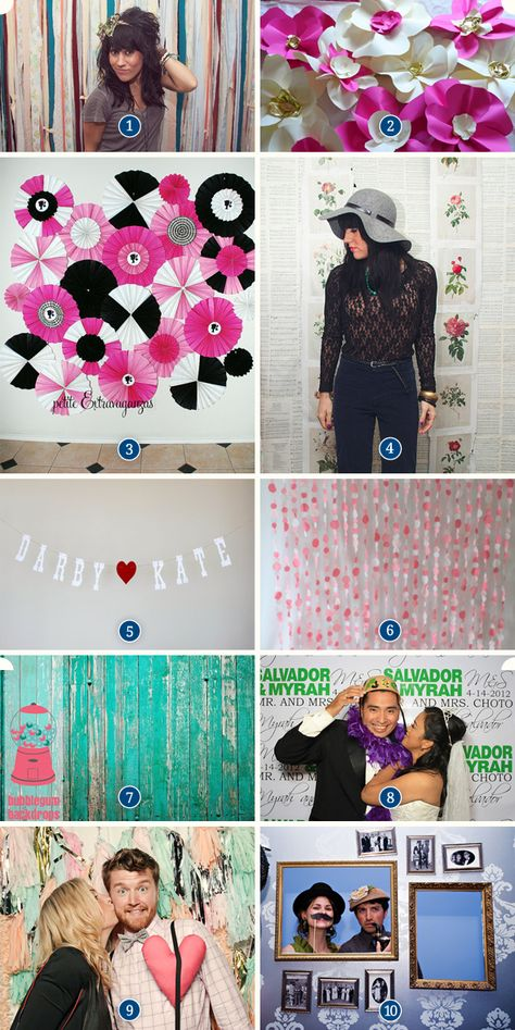 Photo booth background pinterest