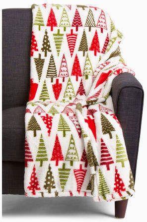 Christmas Trees Plush Throw Check Tomorrow T J Maxx