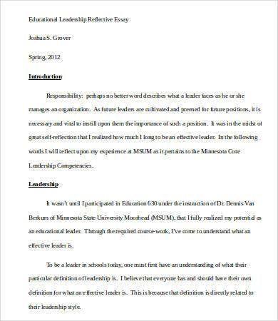 Leadership Essay 7 Free Sample Example Format Download Scholarship
