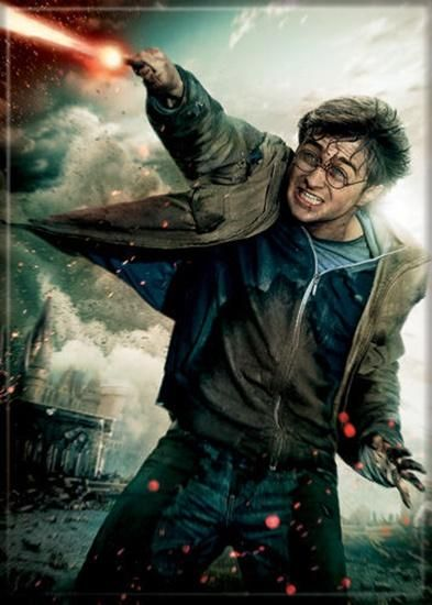 Magnet: Harry Potter Deathly Hallows Harry with Wand Art Image