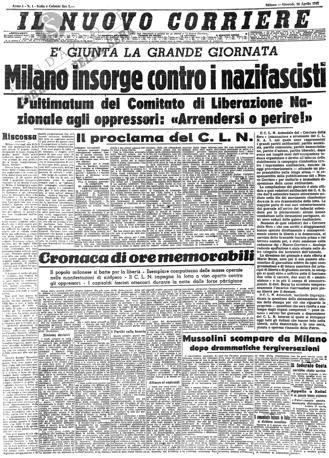 Storia Del Corriere Della Sera Storia Storia Contemporanea Giornale D Epoca