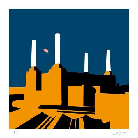 Pink Floyd: Animals - Limited edition print by Eduardo Luzzatti | ALBUM COVERS serie