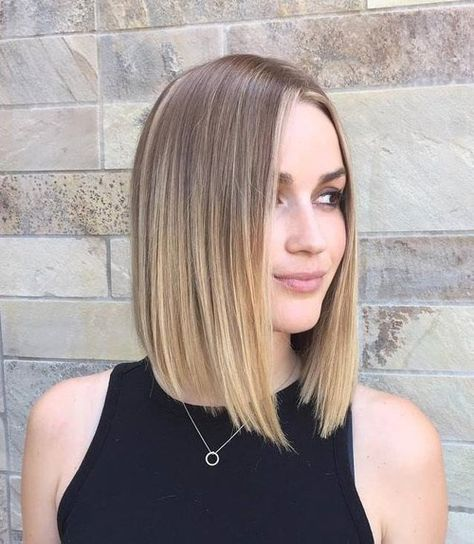 Classic Brunette Balayage - 20 Inspirational Long Choppy Bob Hairstyles - The Trending Hairstyle