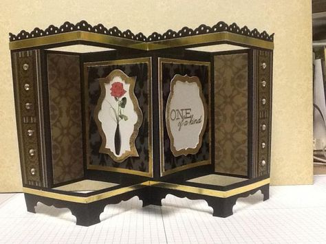 Twist on a screen divider card by teach57123 - Cards and Paper Crafts at Splitcoaststampers - Nov 19/14
