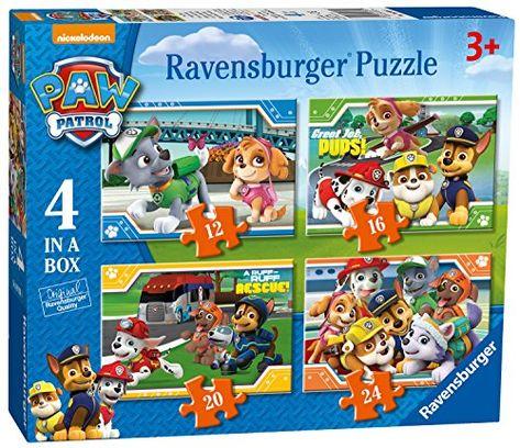 Ravensburger Paw Patrol 4 In A Box 12 16 20 24 Piece Jigsaw