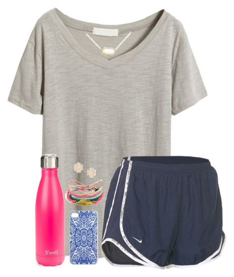 when something embarrassing happens and your just like by apemb on Polyvore featuring NIKE, Kendra Scott, Samantha Warren London, S'well and Pura Vida