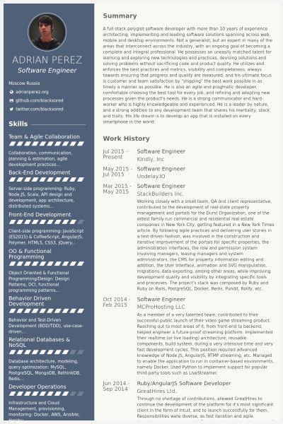50 Best Of Software Developer Resume Sample Gallery Resume Software Resume Examples Sample Resume