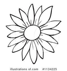 Sunflower Drawing Easy At Getdrawings Com Free For Personal Use Sunflower Drawing Sunflower Stencil Flower Outline