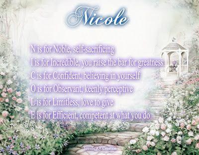 name nicole bedeutung