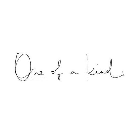 You are one of a kind! #whitescripts Tag your friends!