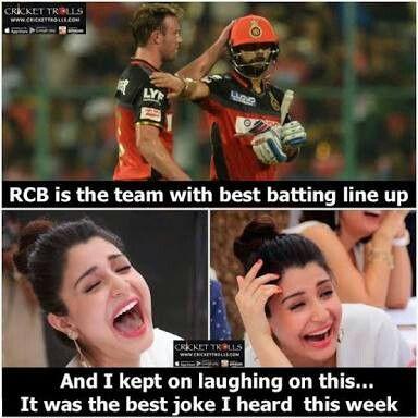 Pin By Iqra Shaikh On Jokes Royal Challengers Bangalore Cricket Time Cricket