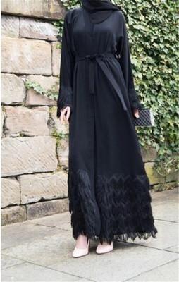 Plain Black Abaya//Burka//Jilbab//Robe longue faite avec Premium nidah à Dubaï