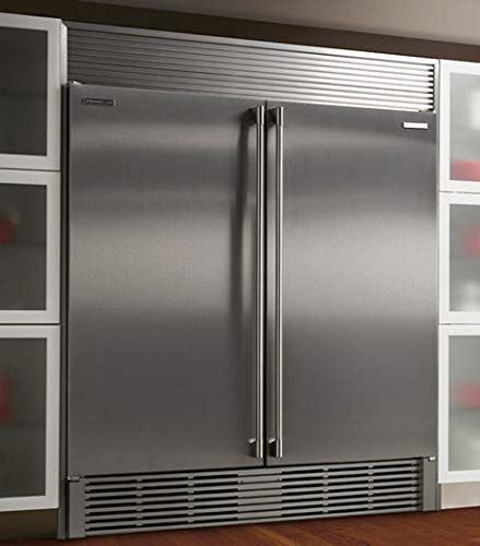 Electrolux Iq Touch Built In 32 All Refrigerator Ei32ar80qs All Freezer Ei32af80qs With Ecp8472ss 84 Inch Double Louvered Trim Kit In Stainless Steel With Images Large Refrigerator All Refrigerator Kitchen Renovation