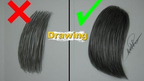 نصائح في تعليم الرسم الطريقة الصحيحة لرسم الشعر خطوة بخطوة للمبتدئين Youtube Step By Step Drawing Drawings Art