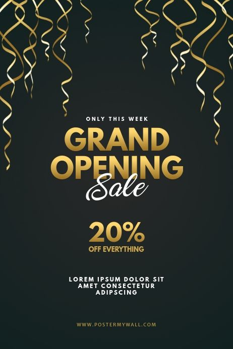 Grand Opening Sale Flyer Template Sale Flyer Flyer Template Grand Opening