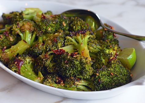 Roasted Broccoli with Chipotle Honey Butter - Once Upon a Chef