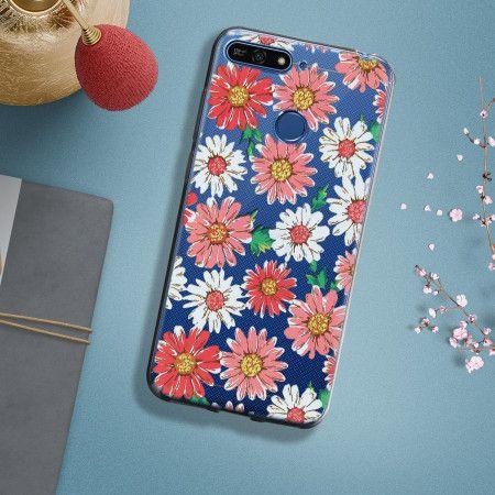 Coque souple Huawei Y6 2018 / Honor 7A motifs fleurs - Transparent ...