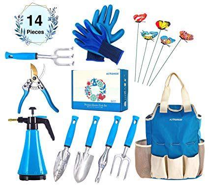 40 Amazon Com Kit4pros Premium Garden Tools Set Gardening Gifts For Women Men Heavy Duty Kit W Ergono Garden Tool Set Tote Bag Organizer Garden Tools
